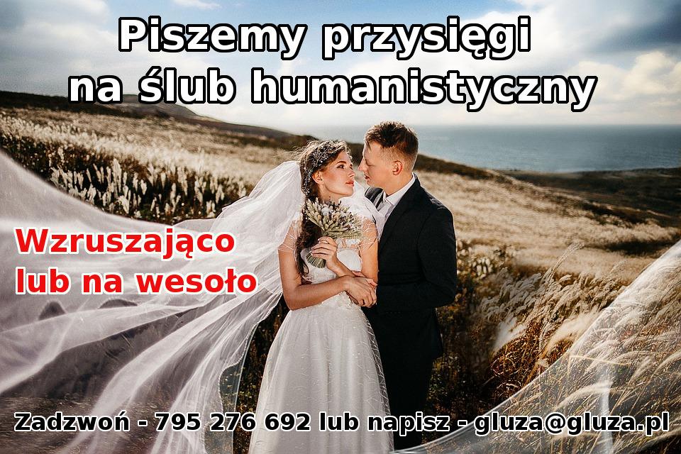 Własna przysięga na ślub humanistyczny, cywilny, kościelny